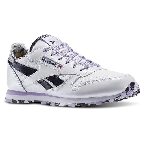 Reebok - Classic Leather Girl Squad Pack White/Purple Delirium/Lavender AR2715