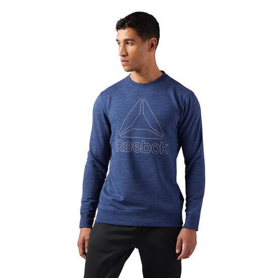 Reebok - Elements Delta Crew Neck Sweatshirt Washed Blue CD5520