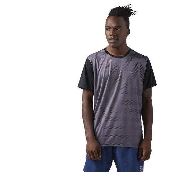 Reebok - Graphic Short Sleeve T-Shirt Grey/Black CE1294