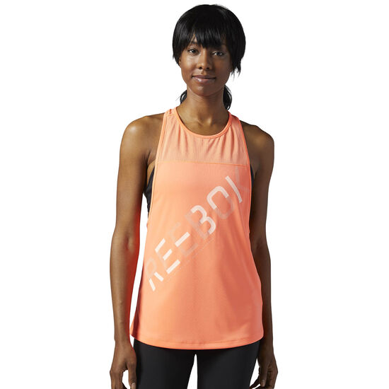 Reebok - Workout Ready Graphic Mesh Tank Top Guava Punch BR0074