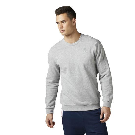 Reebok - Reebok Classics Franchise French Terry crew neck Sweatshirt Medium Grey Heather BQ3416