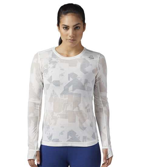 Reebok - Burnout Long Sleeve Shirt Chalk BR2653