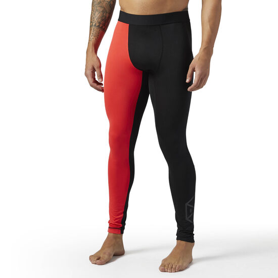 Reebok - Compression Tights Glow Red BR4916
