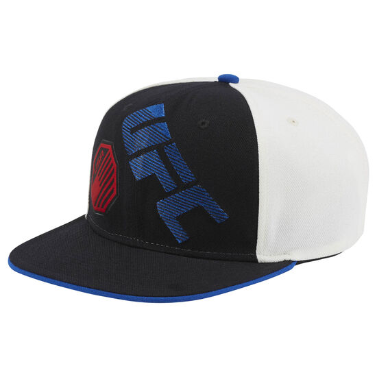Reebok - UFC Ultimate Fan Flat Brim Snapback Hat Black/White/Blue BE6346
