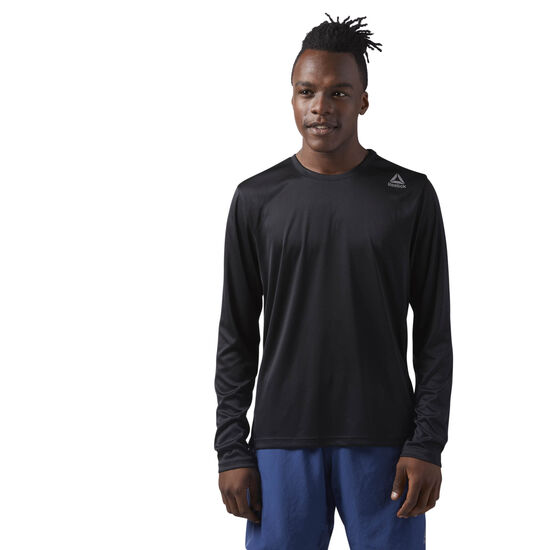 Reebok - Running Long Sleeve Shirt Black/Medium Grey CE1317