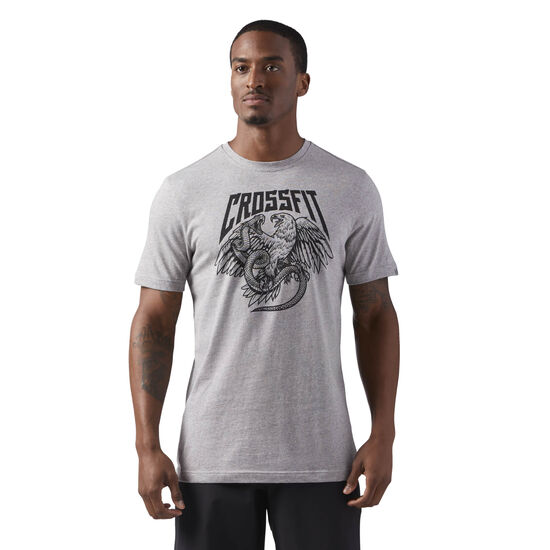 Reebok - Reebok CrossFit Eagle Tee Medium Grey Heather CF4559