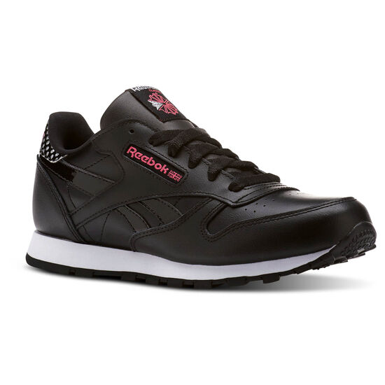 Reebok - Classic Leather Girl Squad Pack Black/Acid Pink/White CM9136