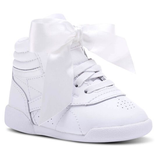 Reebok - Freestyle HI Satin Bow White/Skull Grey CN2028