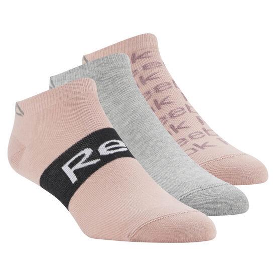 Reebok - Reebok Low Cut Socks - 3 pack Chalk Pink/Medium Grey Heather/Chalk Pink CV6911