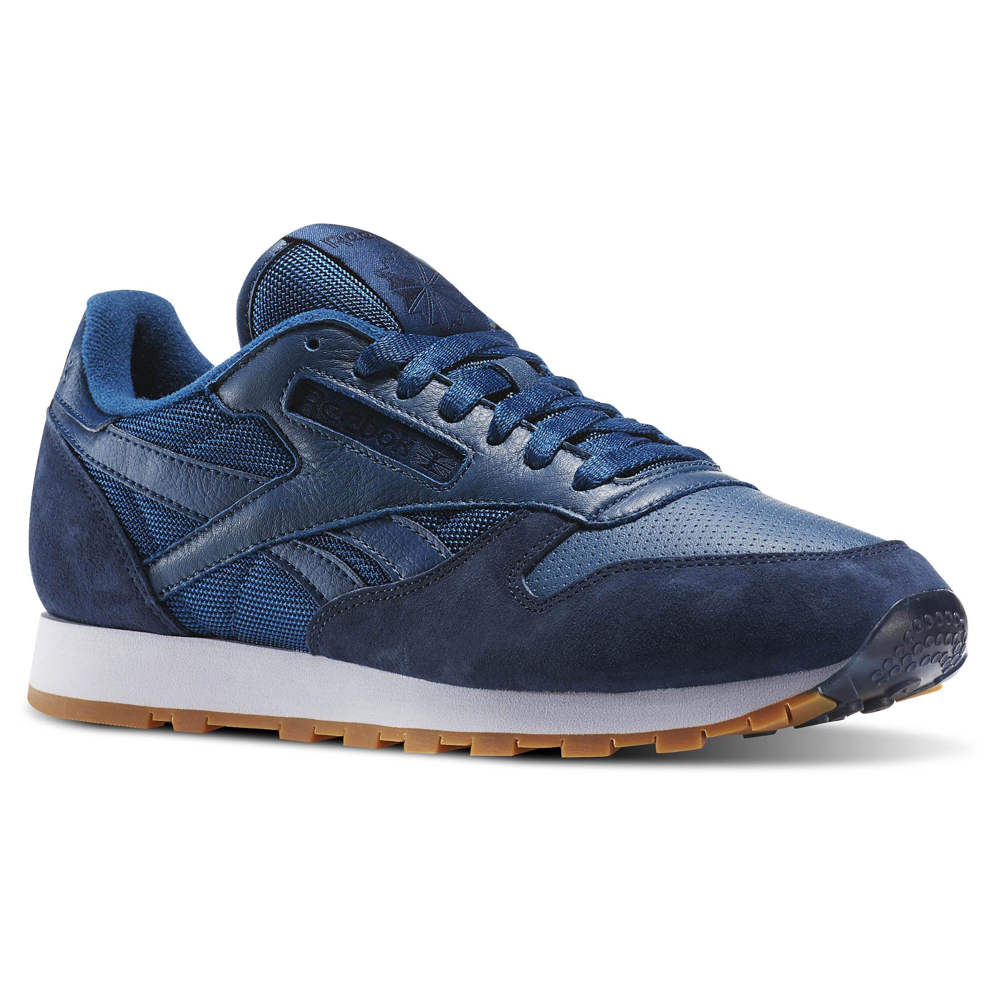 reebok classic leather azul 95e663c3a