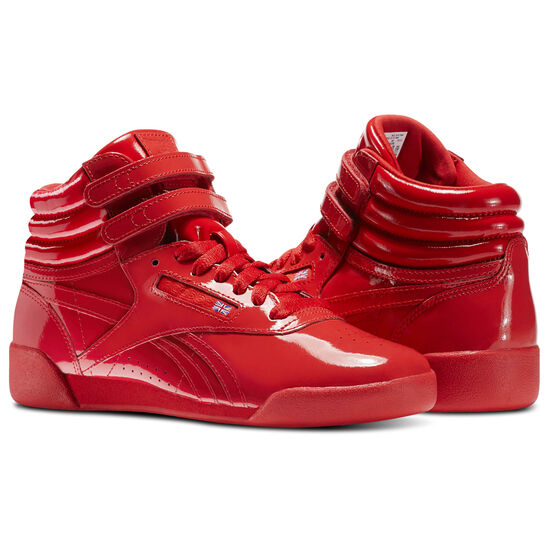 Reebok - Kid's Freestyle Hi Patent Leather Red CN2078
