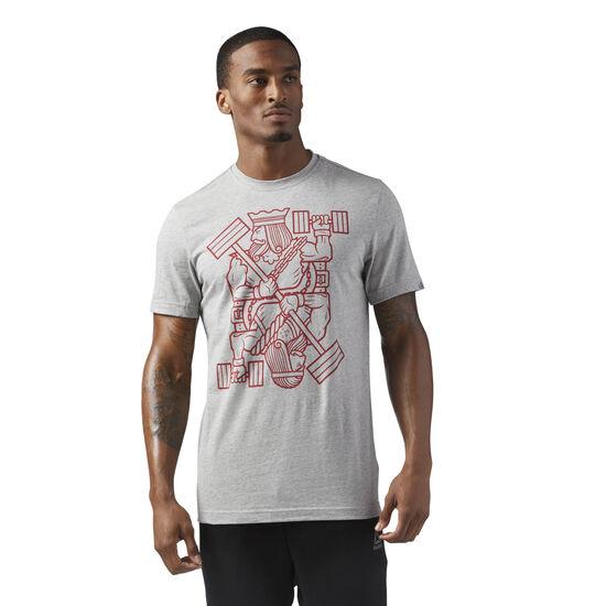 Reebok - King of Training Graphic T-Shirt Medium Grey Heather CF3846