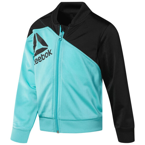 Reebok - Boy's Workout Ready Tracksuit Turquoise/Bright Lava/Black CG0277