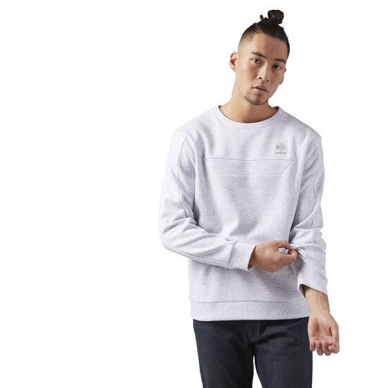 Reebok - Long Sleeve Crewneck Shirt Light Grey Heather CE5004