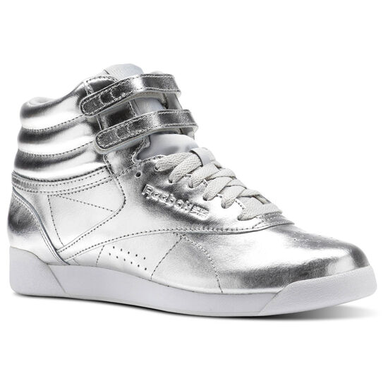 Reebok - Freestyle Hi Metallic Silver Metallic/Steel/White BS9944