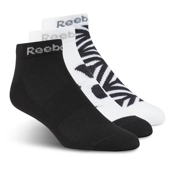 Reebok - Run Club Sock - 3 pair Black/Black/White CD1404