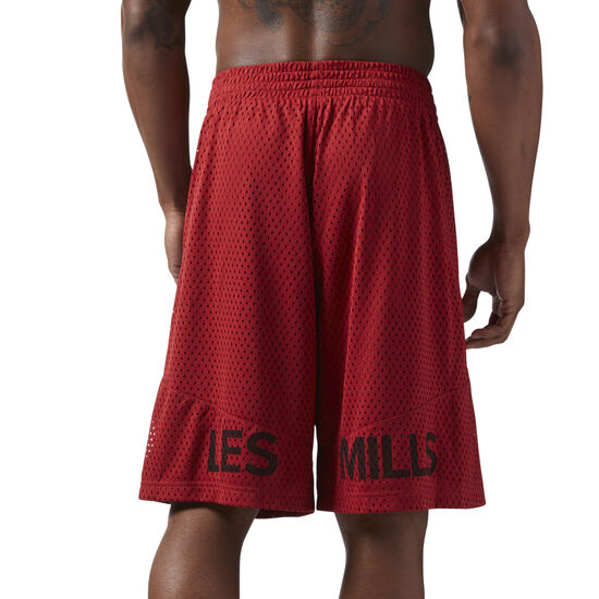 Reebok - LES MILLS Mesh Basketball Shorts Rich Magma CD6177