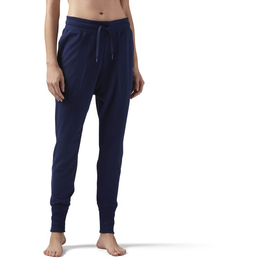 Reebok - High Waisted cotton Jogger Collegiate Navy CE2289
