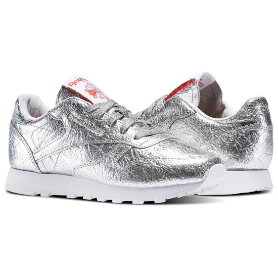 Reebok - Classic Leather HD Silver Metallic/Snowy Grey/Primal Red/White BS5115