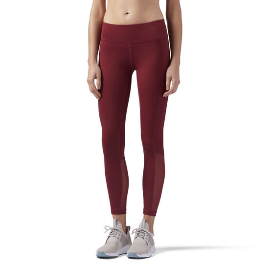 Reebok - Mesh Tights Urban Maroon CD7675
