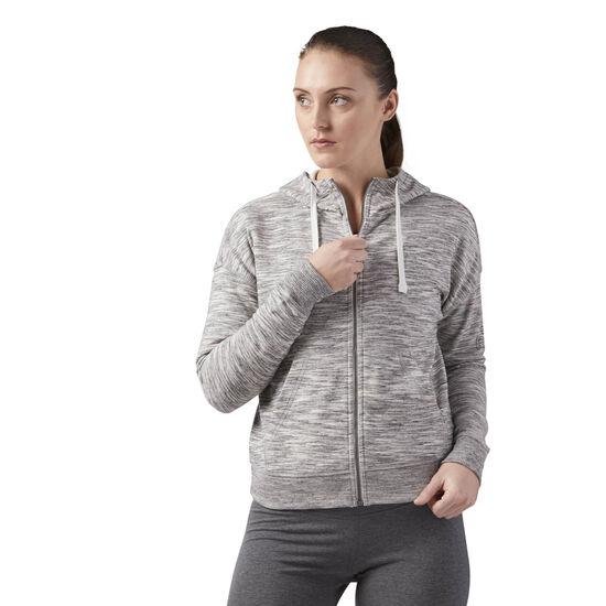 Reebok - Elements Full Zip Hoodie Medium Grey Heather CF8618