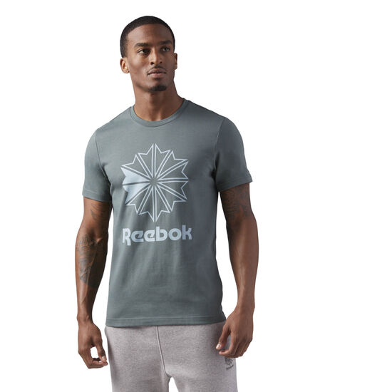 Reebok - Reebok Classics Graphic Tee Grey/Chalk Green CD8392