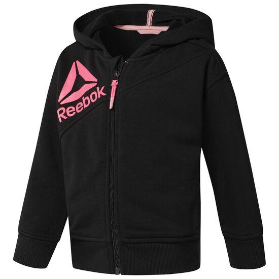 Reebok - Girl's Full Zip Hoodie Black CF4242