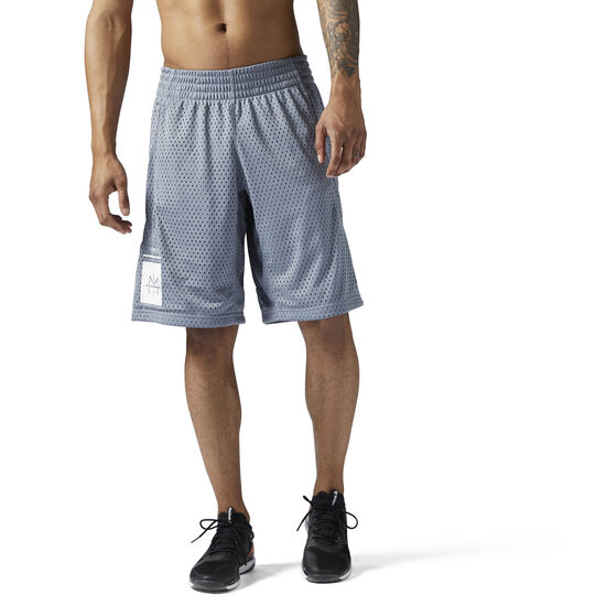 Reebok - LES MILLS Mesh Basketball Shorts Asteroid Dust CE6740