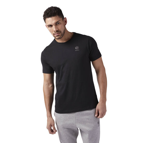 Reebok - Starcrest Heritage Logo T-Shirt Black CE5085