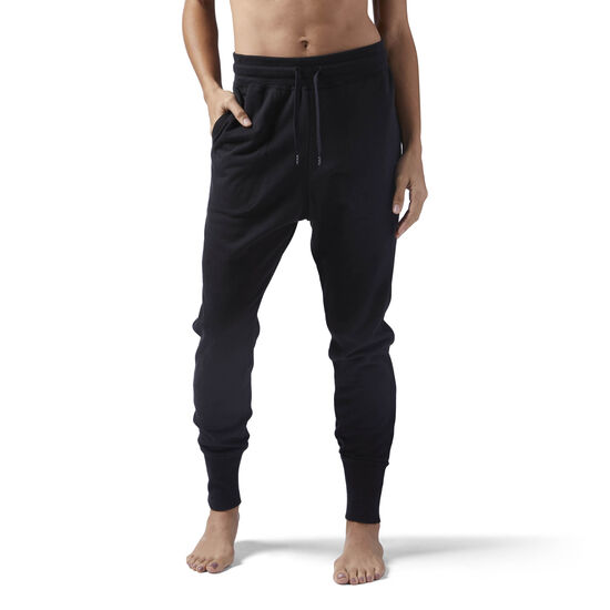 Reebok - High Waisted cotton Jogger Black CE2287