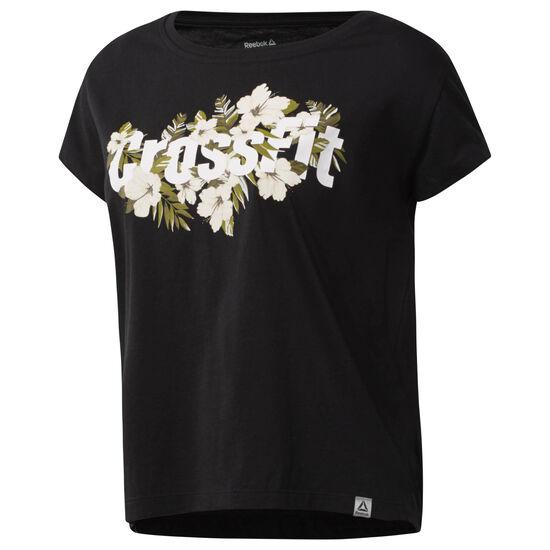 Reebok - Reebok CrossFit Floral Read Easy Tee Black CF5750