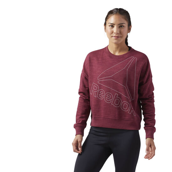 Reebok - Elements Logo Crew Neck Urban Maroon CD5896