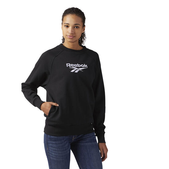Reebok - Cotton Cover-Up Sweatshirt Black CF3950