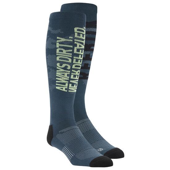 Reebok - Knee Length Graphic Print Socks Paynes Grey CE4126