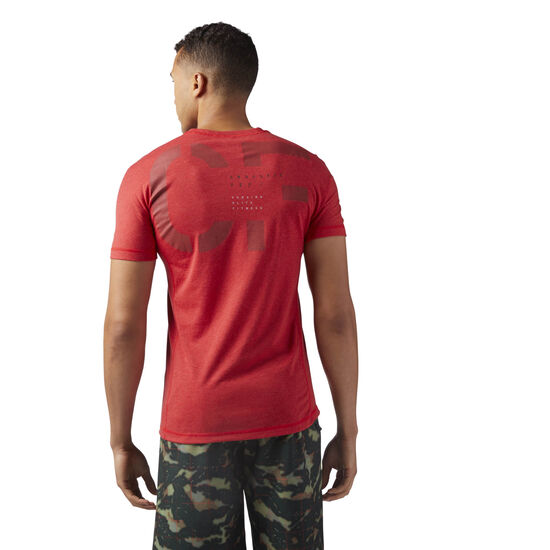 Reebok - Reebok CrossFit Poly Blend Tee Primal Red Melange CD7614