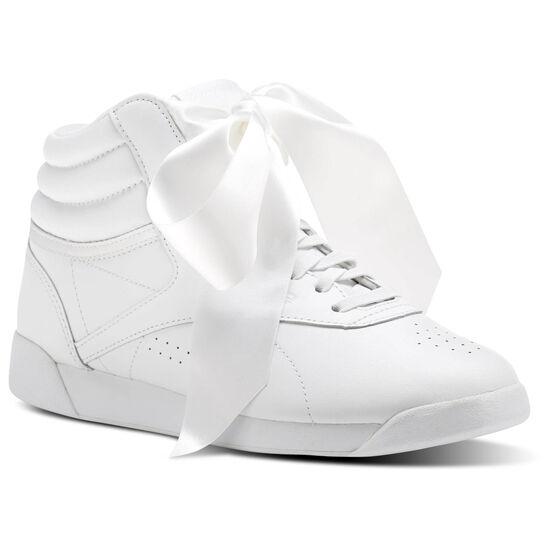 Reebok - Freestyle Hi Satin Bow White/Skull Grey CM8903