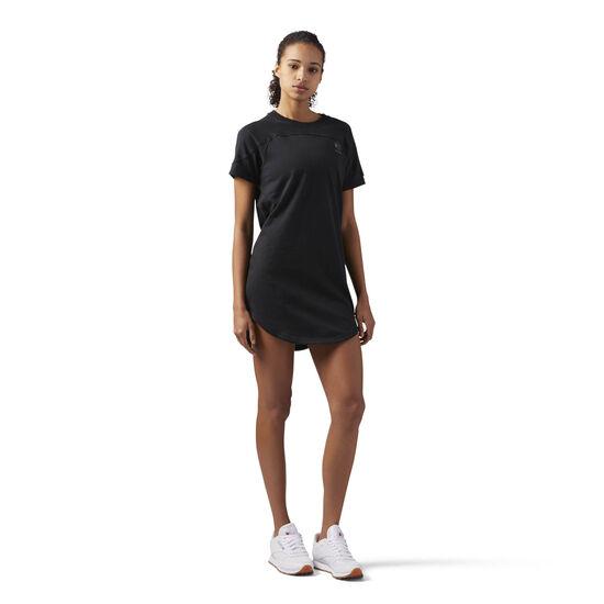 Reebok - Open Back T-Shirt Dress Black CF9494