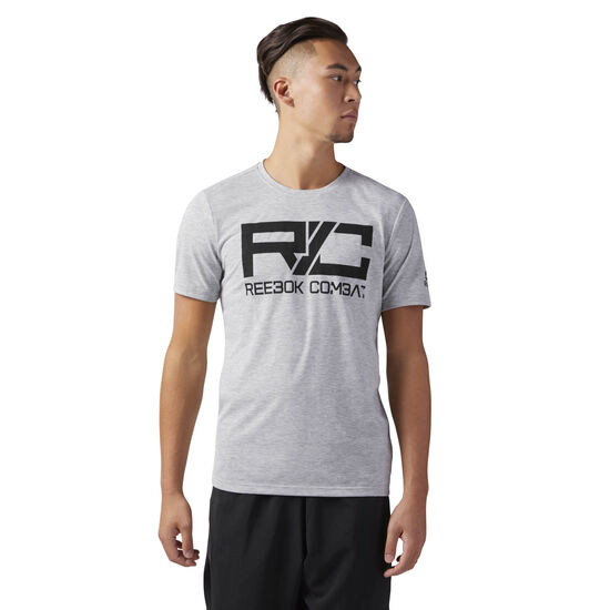 Reebok - Combat Mark T-Shirt Medium Grey Heather CY6124