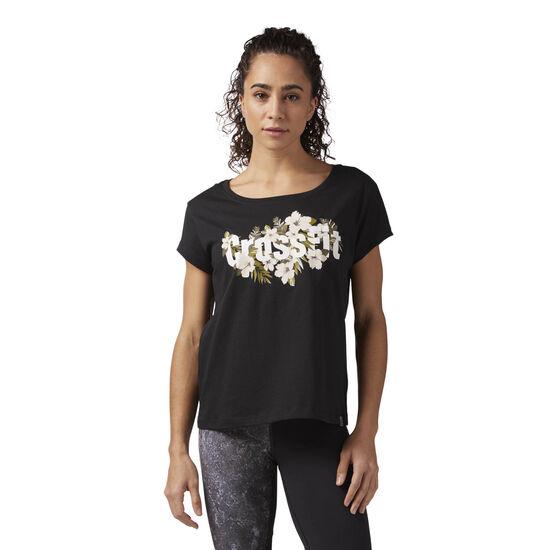 Reebok - Reebok CrossFit Floral Tee Black CF5750
