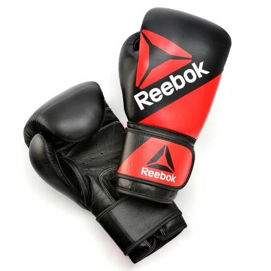 Reebok - Leather Training Glove 14oz Multicolor/Reebok Red/Black BG9379