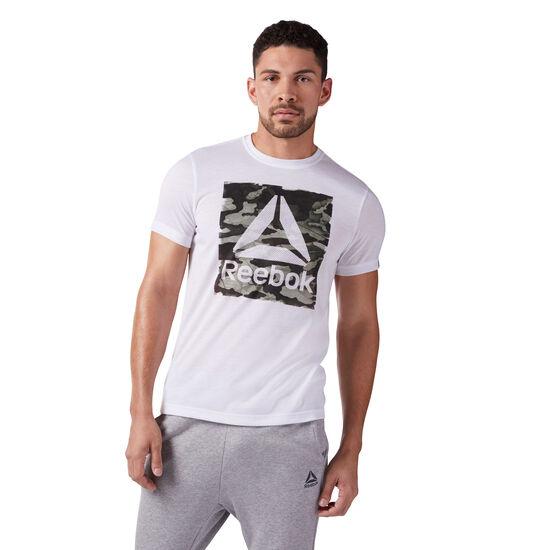 Reebok - Camo Logo T-Shirt White CF3848