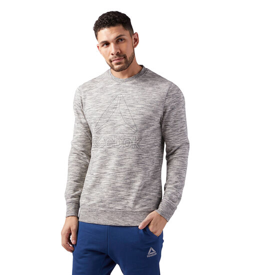 Reebok - Elements Delta Crew Neck Sweatshirt Medium Grey Heather CE3921