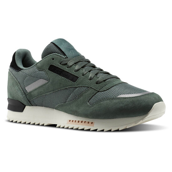 Reebok - Classic Leather RIPPLE SN Chalk Green/Whisper Teal/Classic White/Black BS9788
