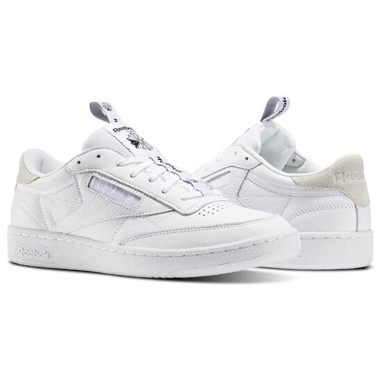 Reebok - Club C 85 Iconic Taping White/Skull Grey/Black BS6212