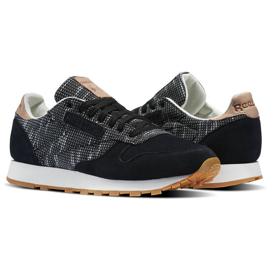 Reebok - Classic Leather EBK Black/Stark Grey/Sand Stone-Gum BS6236
