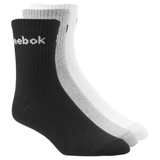 Reebok - Reebok Crew Sock - 3 pairs Medium Heather Grey AB5281