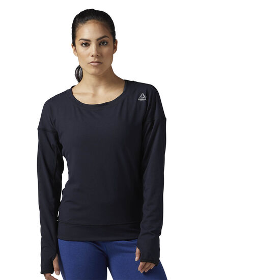 Reebok - Speedwick Crew Neck Long Sleeve Shirt Black BR4059