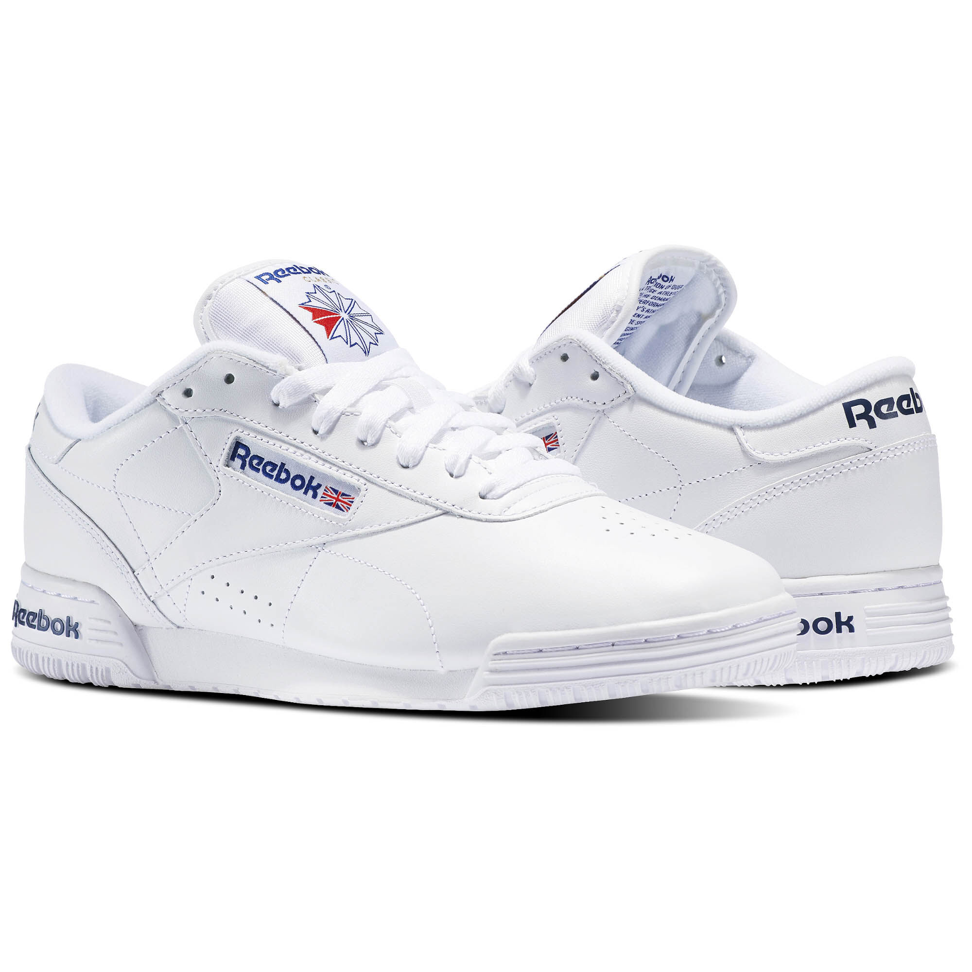 Original Product Reebok Exofit LO Clean Logo Int White / Royal Blue / Royal Blue for Men