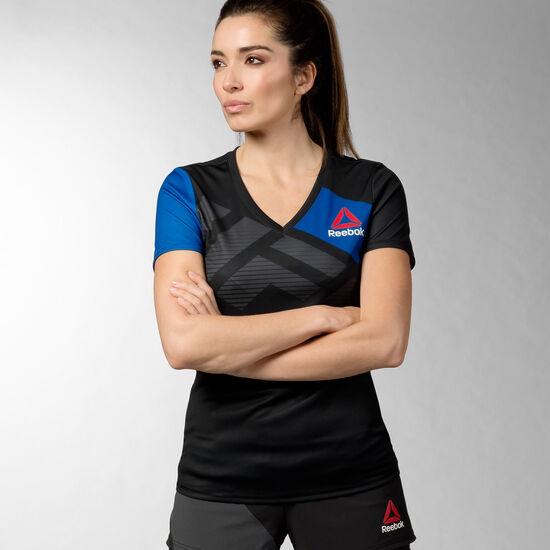 Reebok - UFC Fight Kit Walkout Jersey Black/Collegiate Royal AZ9062