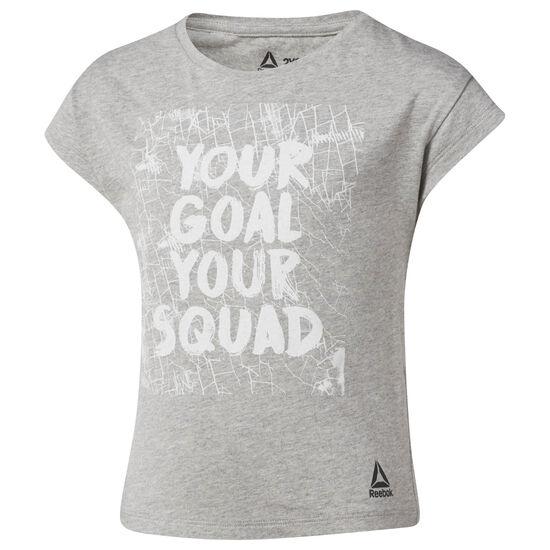 Reebok - Girl Squad Tee Medium Grey Heather CF2730